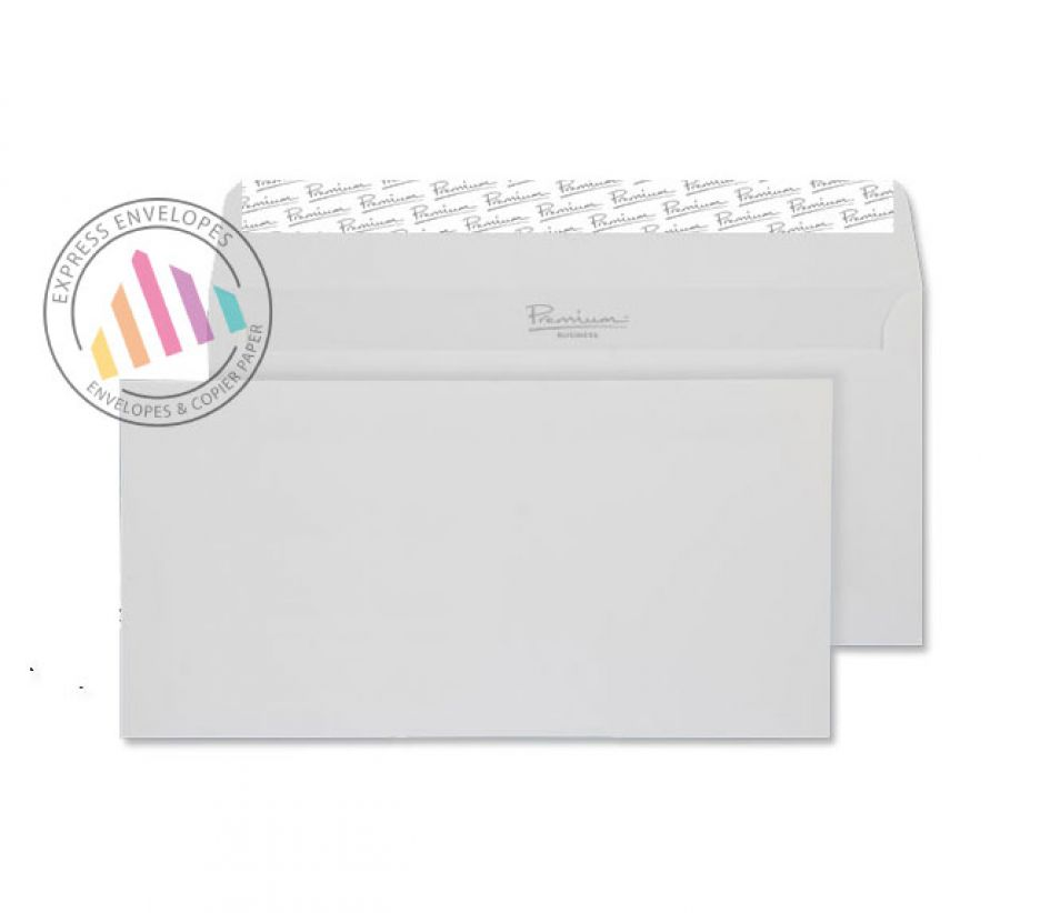 DL - Brilliant White Wove Envelopes - 120gsm - Non Window - Peel and Seal
