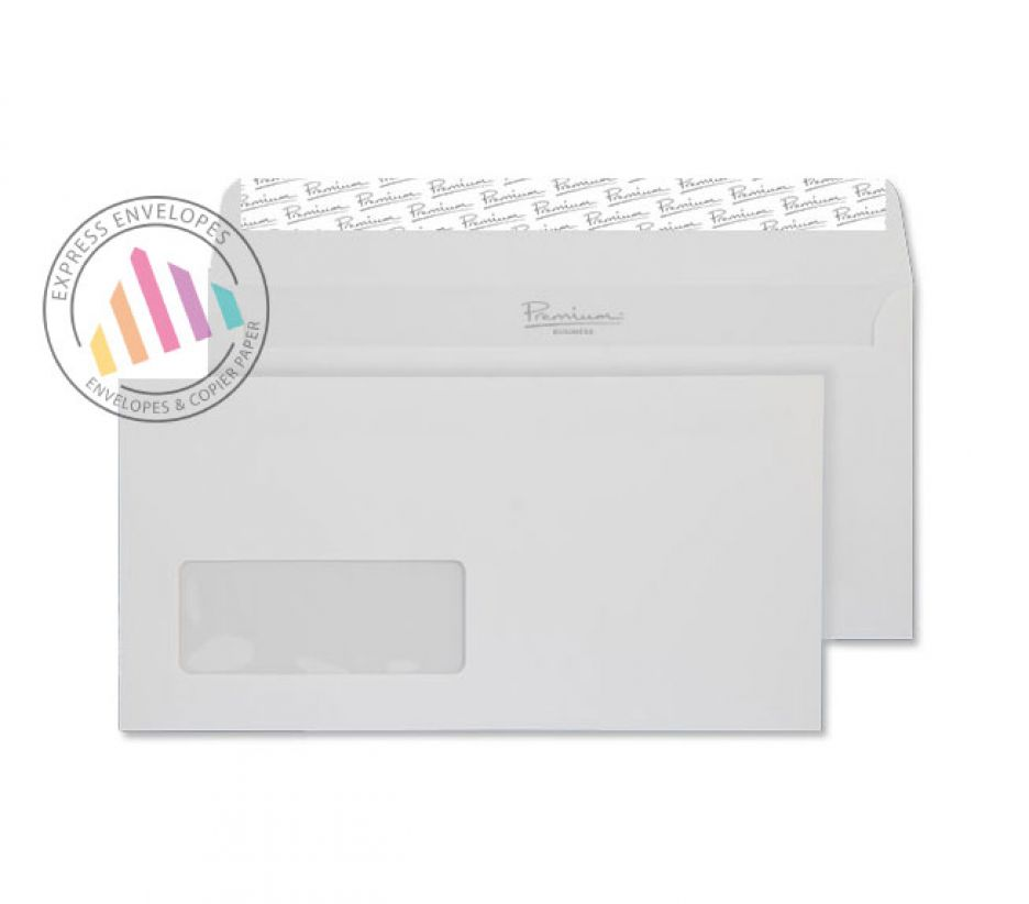 DL - Brilliant White Wove Envelopes - 120gsm - Window - Peel and Seal