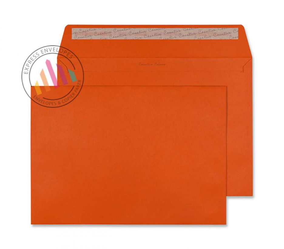 C4 - Marmalade Orange Envelopes - 120gsm - Non Window - Peel and Seal