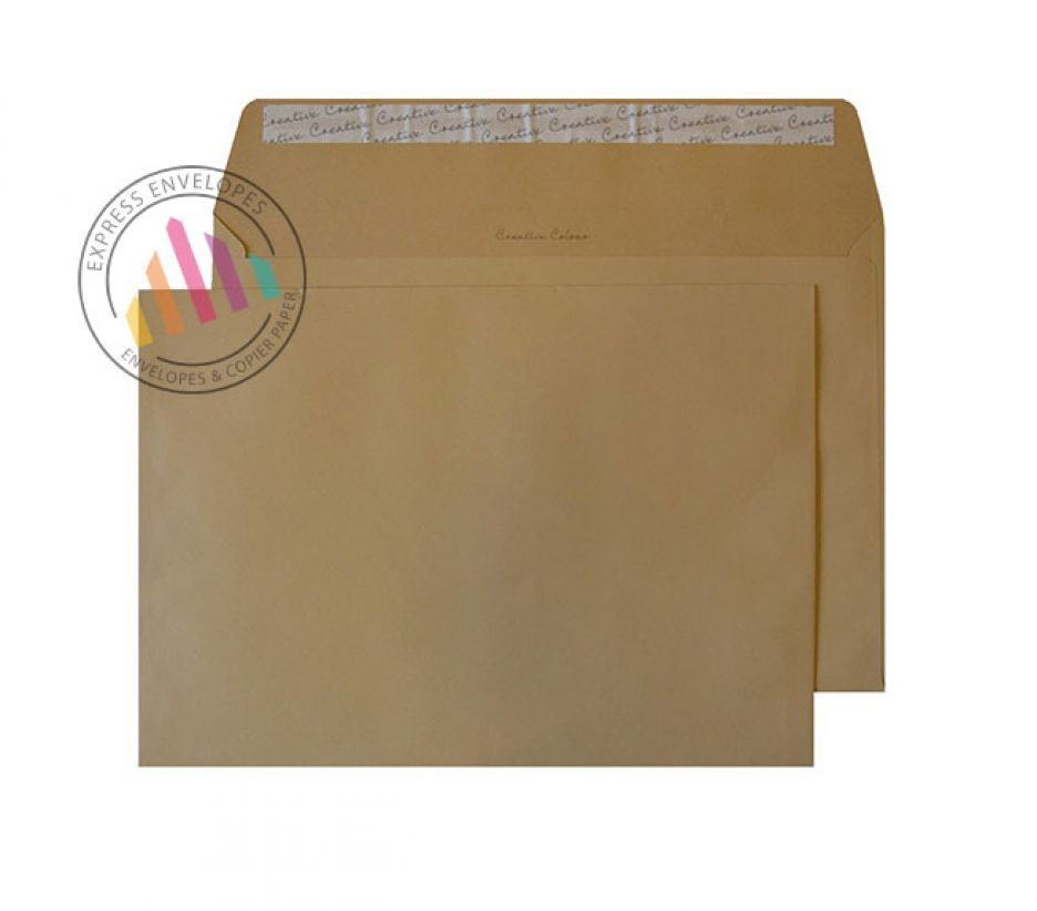 C4 - Biscuit Beige Envelopes -120gsm - Non Window - Peel and Seal