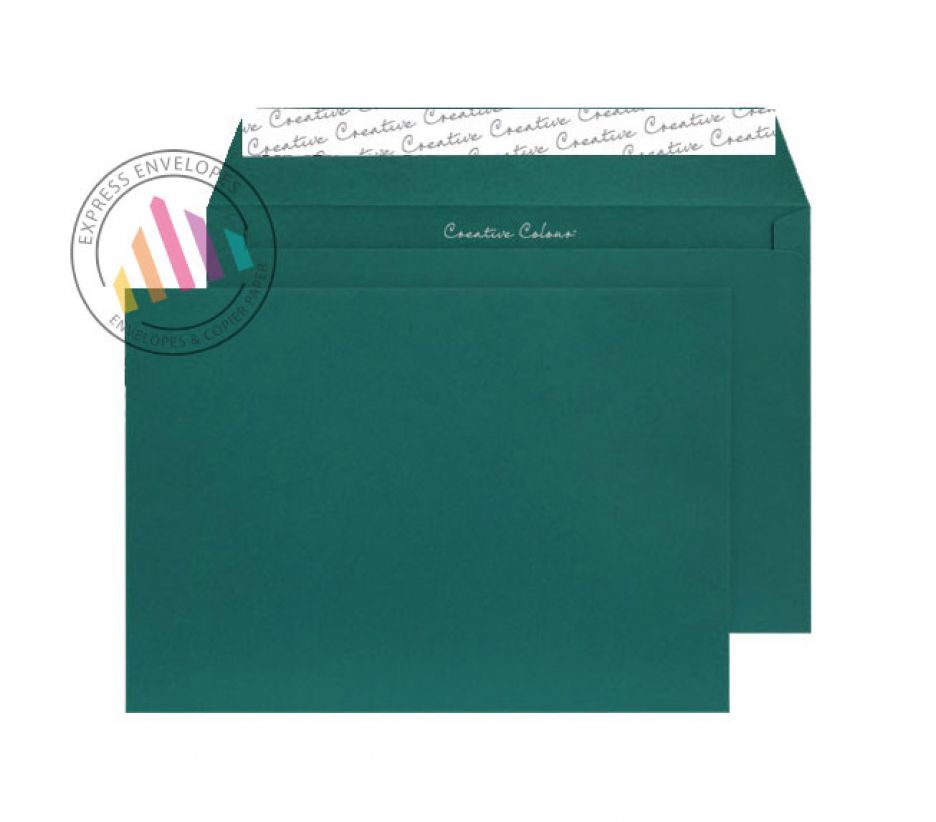 C4 - British Racing Green Envelopes - 120gsm - Non Window - Peel and Seal