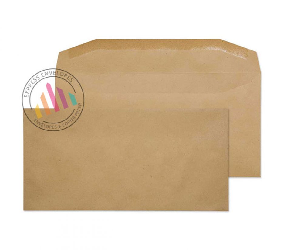 DL - Manilla Mailing Envelopes - 80gsm - Non Window - Gummed