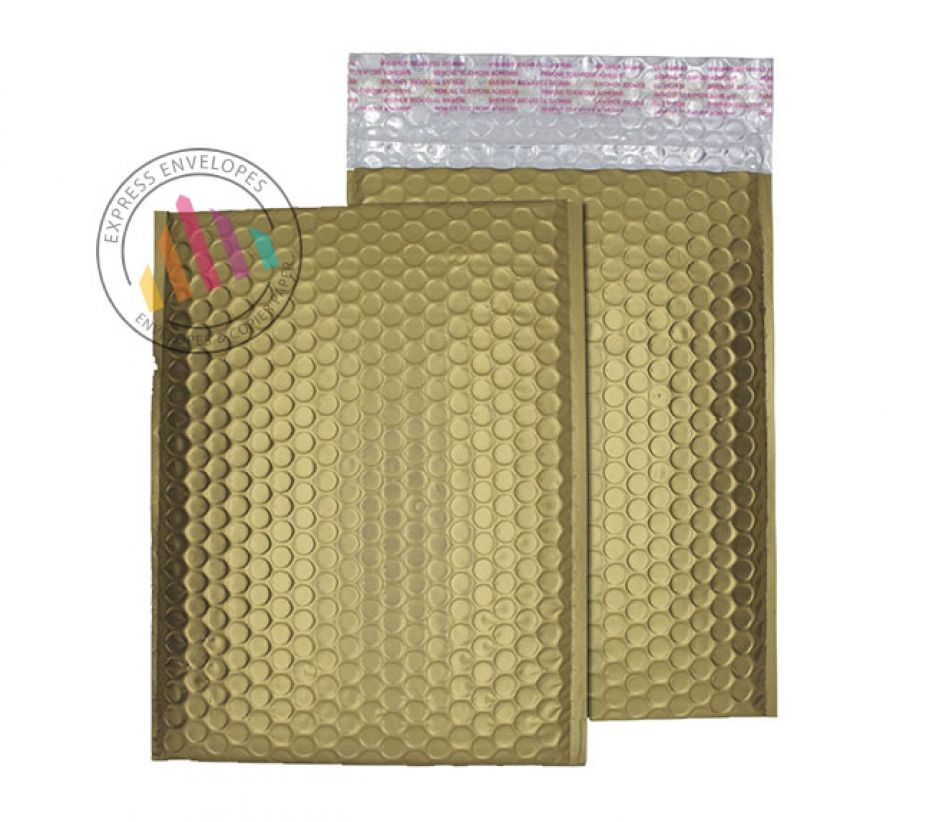 250×180mm - Gold Dust Padded Bubble Envelopes - Peel and Seal