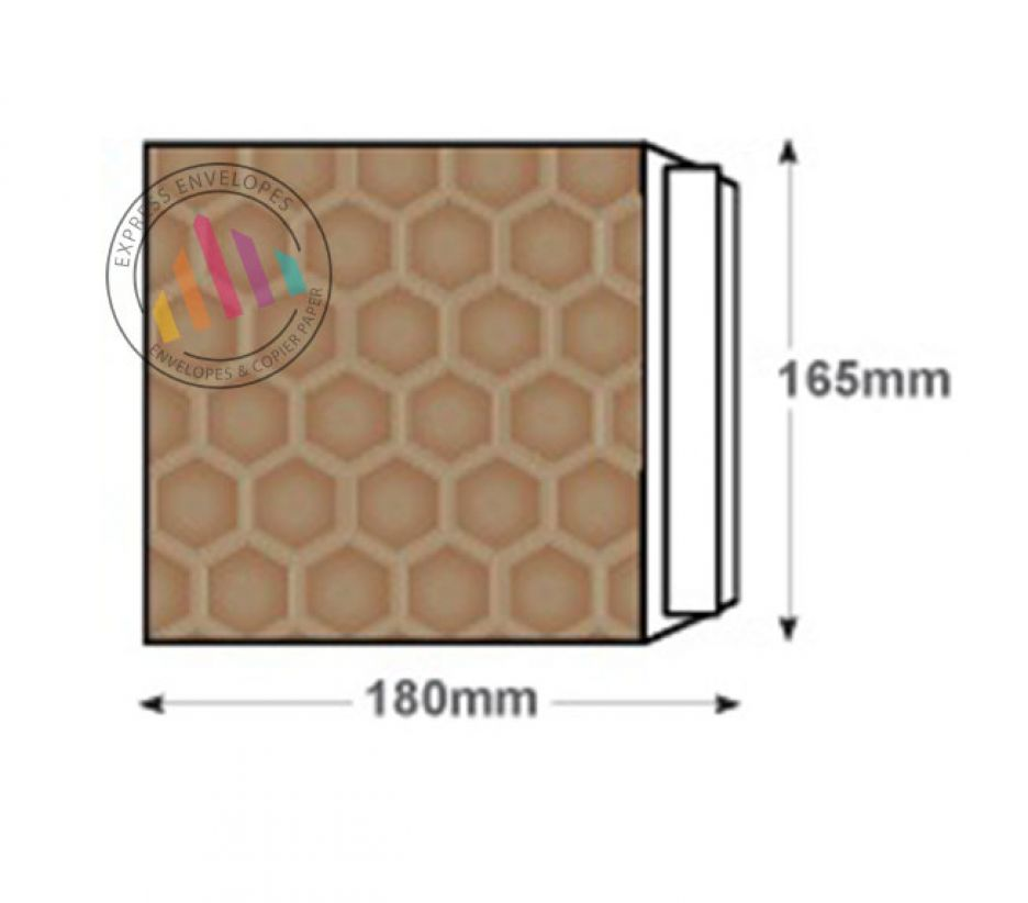 165×180mm - CD Gold Kraft Padded Bubble Envelopes - Peel and Seal