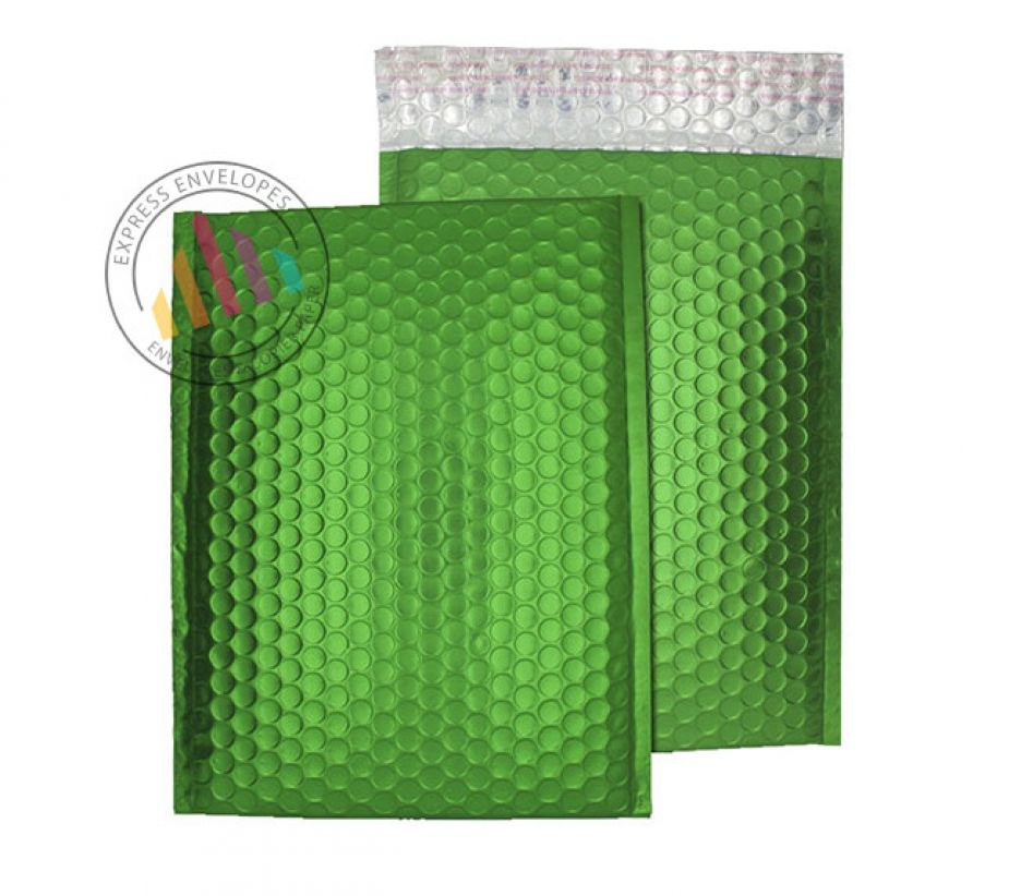 C4 - Beetle Green Padded Bubble Envelopes - Peel and Seal