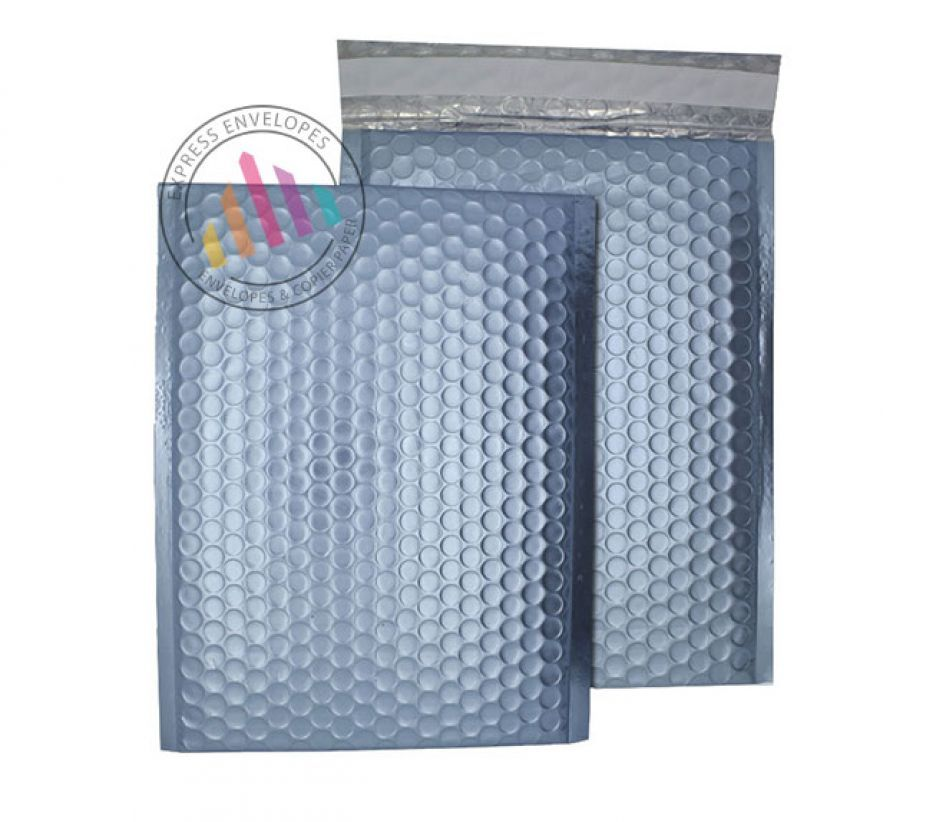 250×180mm - Cotton Blue Padded Bubble Envelopes - Peel and Seal