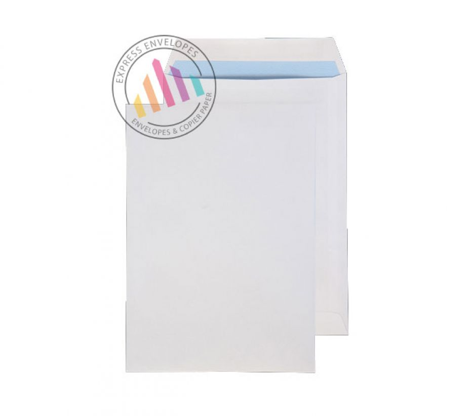 254 x 178 - White Commerical Envelopes - 100gsm - Non Window - Self Seal