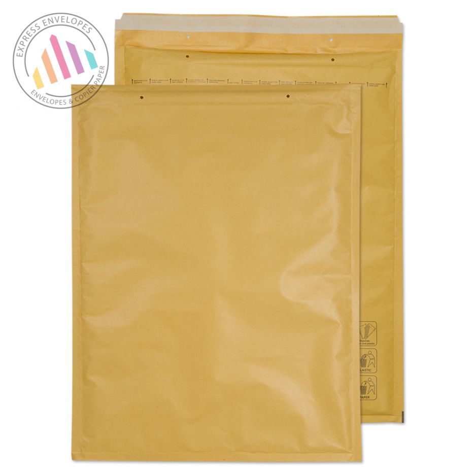 660×460mm - Gold Kraft Padded Bubble Envelopes - Peel and Seal
