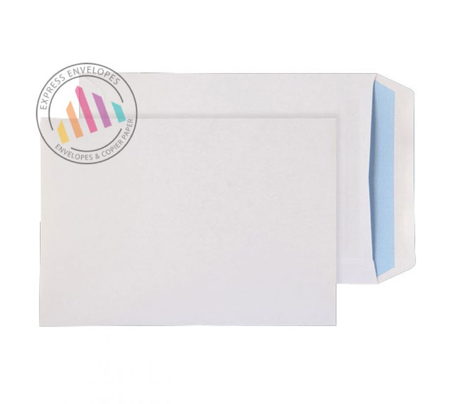 Oversize C5 - White Commercial Envelopes - 100gsm -  Non Window - Self Seal