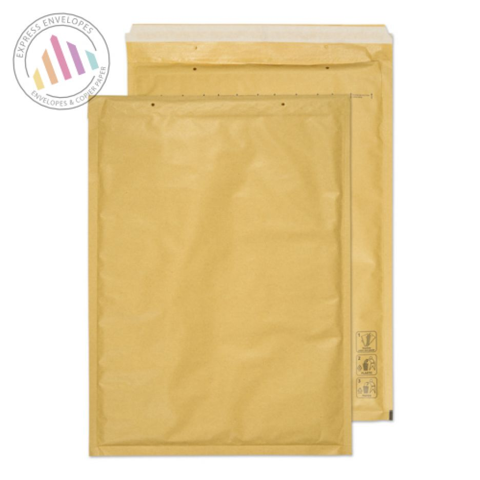 C3 - Gold Kraft Padded Bubble Envelopes - Peel and Seal