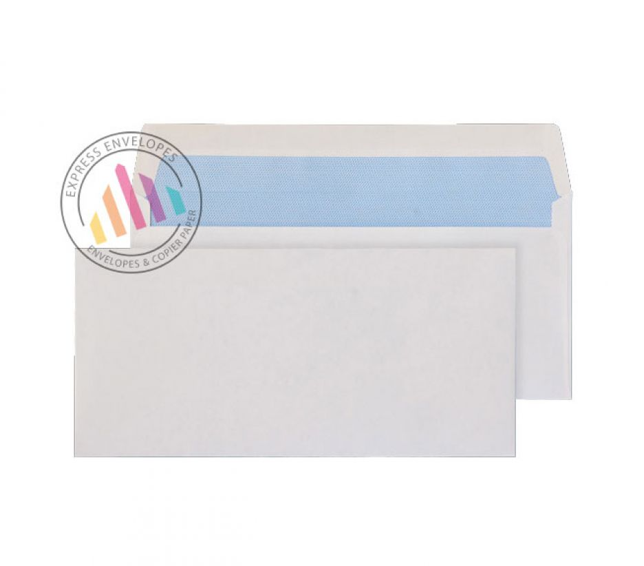 DL BRE -  White  Commercial Envelopes - 80gsm - Non Window - Gummed