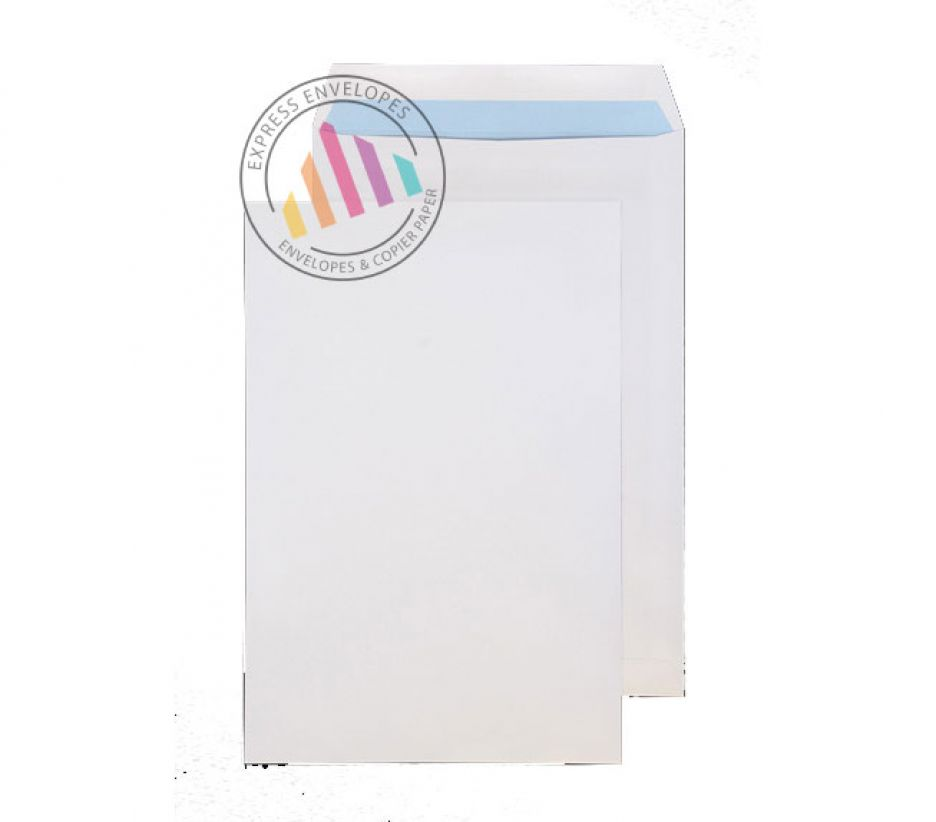 381 x 254 - White Commercial Envelopes - 120gsm - Non Window - Self Seal