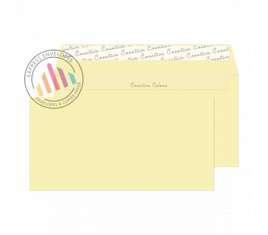DL+ - Clotted Cream Envelopes - 120gsm - Non Window - Peel and Seal