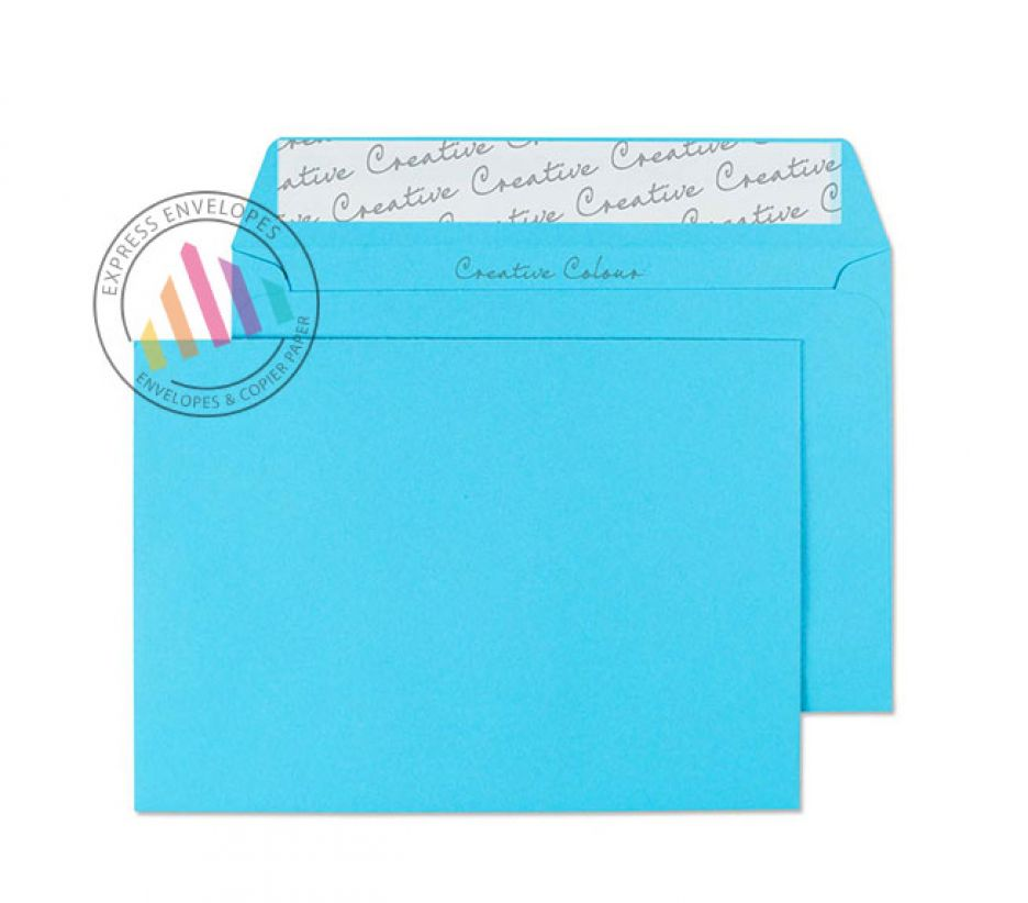 C6 - Cocktail Blue Envelopes - 120gsm - Non Window - Peel and Seal