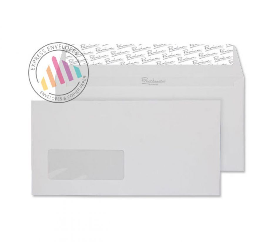 DL - High White Laid Envelopes - 120gsm - Window - Peel and Seal