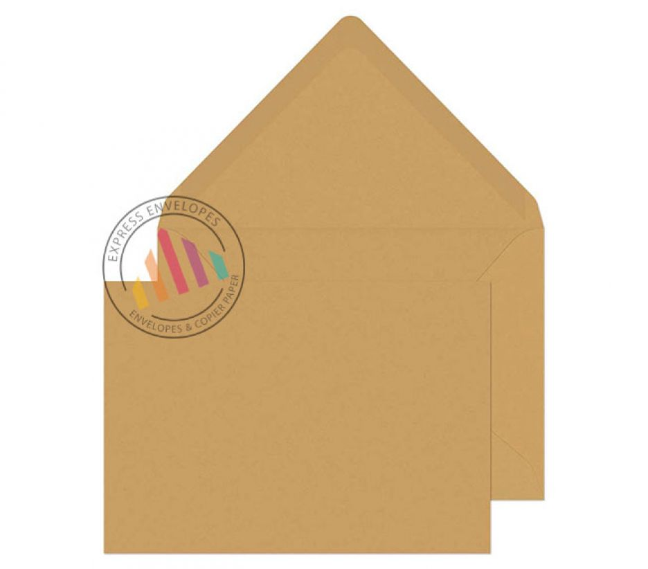 C5 - Manilla Banker Invitation Envelopes - 90gsm - Non Window - Gummed