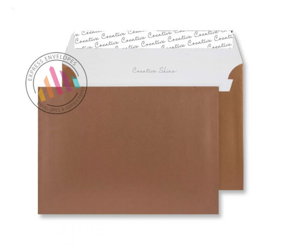C5 - Metallic Copper Envelopes - 120gsm - Non Window - Peel and Seal