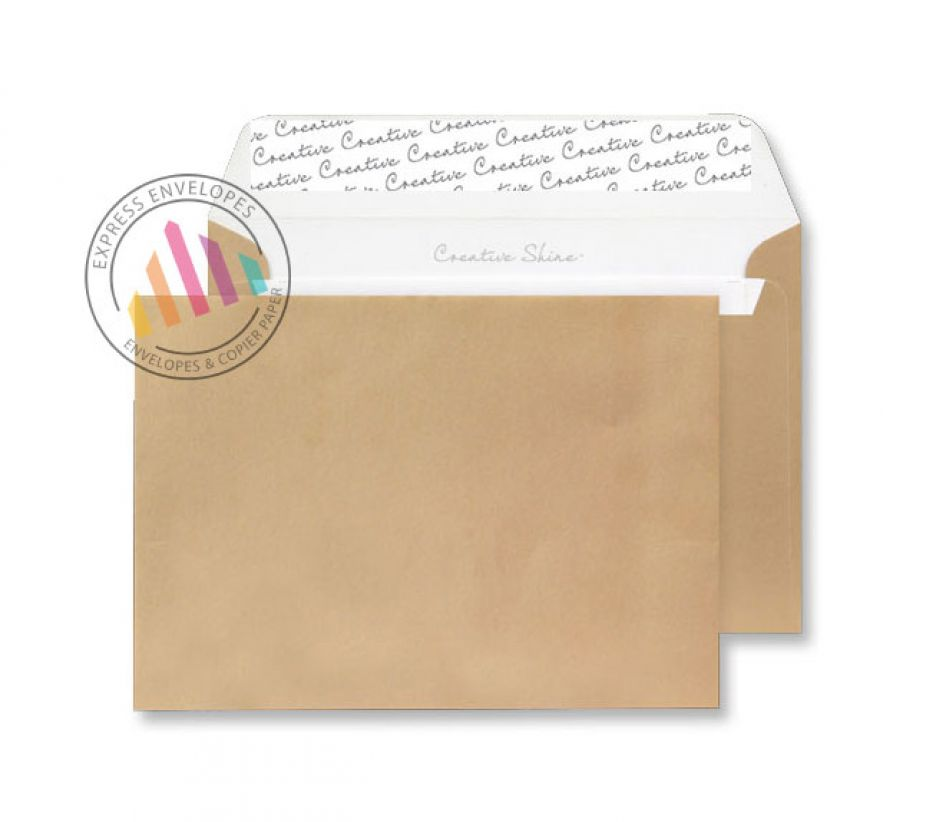 C5 - Metallic Gold Envelopes - 120gsm - Non Window - Peel and Seal
