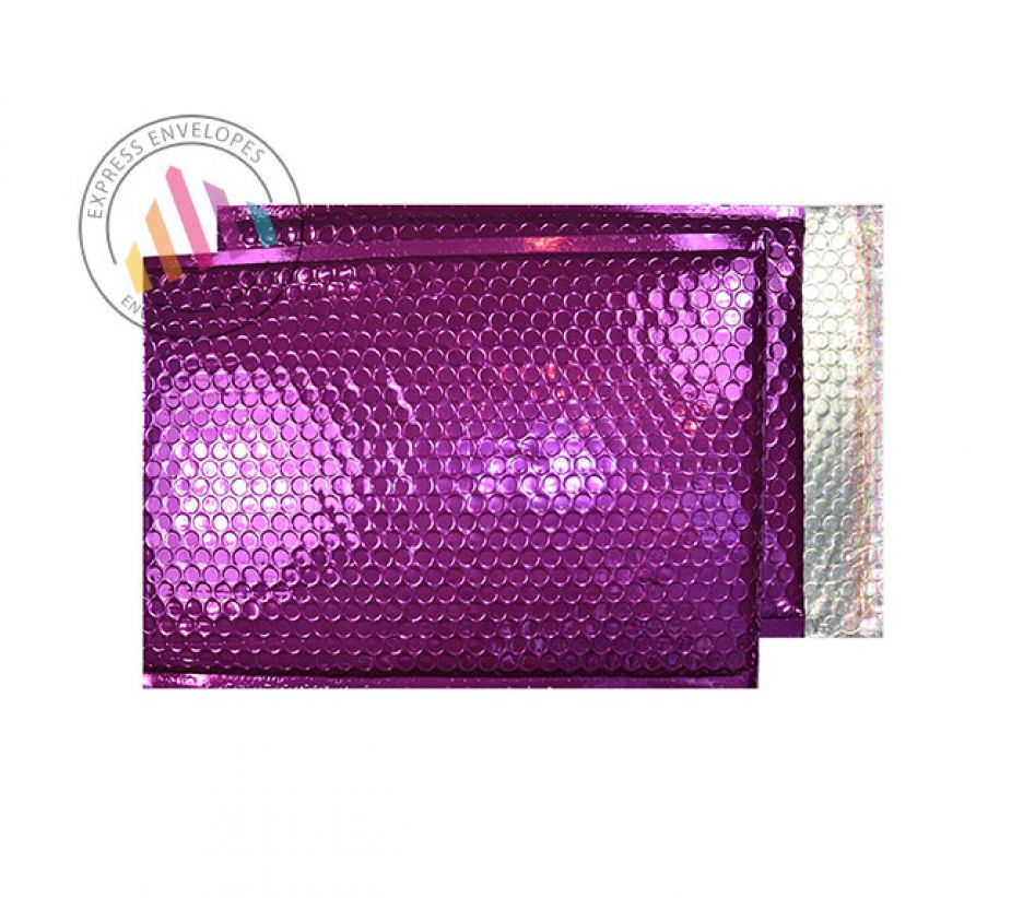 C3 - Purple Grape Padded Bubble Envelopes - Peel and Seal