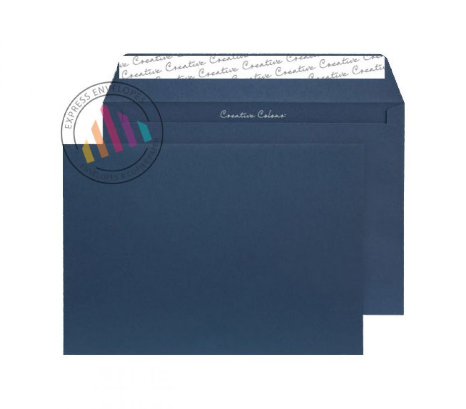 C4 - Oxford Blue Envelopes - 120gsm - Non Window - Peel and Seal