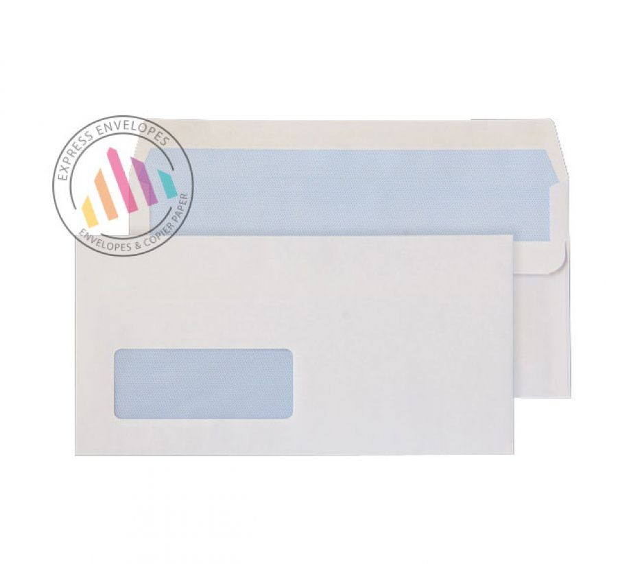 DL -  White Commercial Envelopes - 90gsm - Window - Self Seal