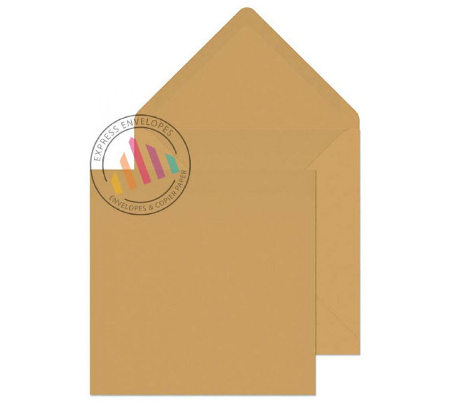 155×155mm - Manilla Banker Invitation Envelopes - 90gsm - Non Window - Gummed
