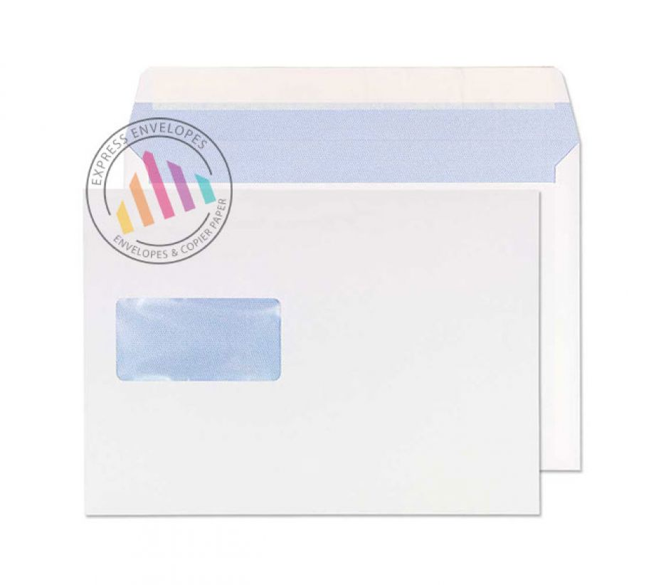 176×250mm - White Commercial Envelopes - 90gsm - Window - Peel and Seal