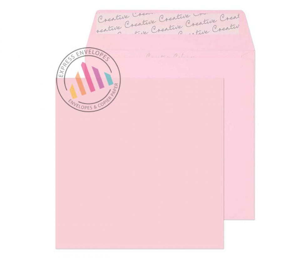 160×160mm - Baby Pink Envelopes - 120gsm - Non Window - Peel and Seal