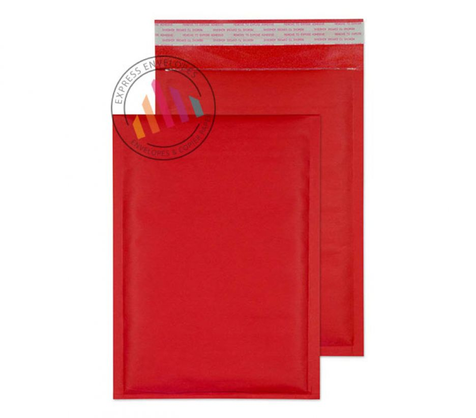 260×180mm - Red Padded Bubble Envelopes - 90gsm - Non Window - Peel and Seal