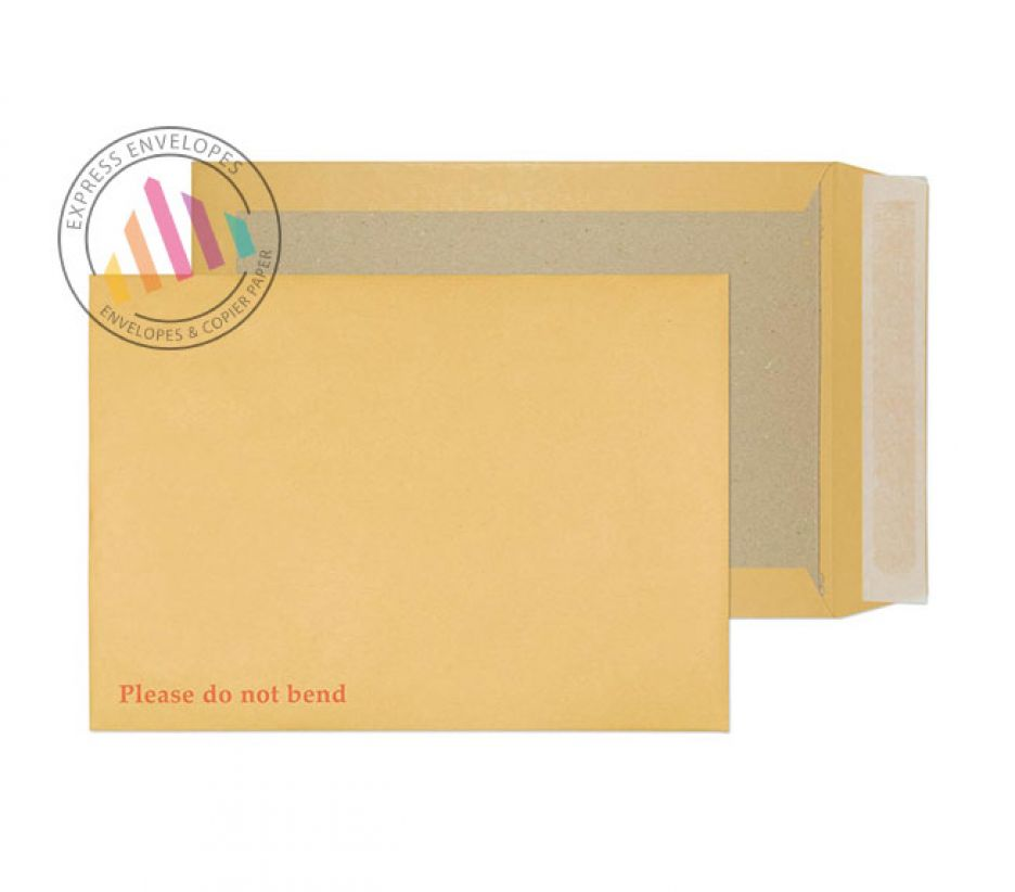 C4 - Manilla Board Back Envelopes - 120gsm - Non Window - Peel and Seal