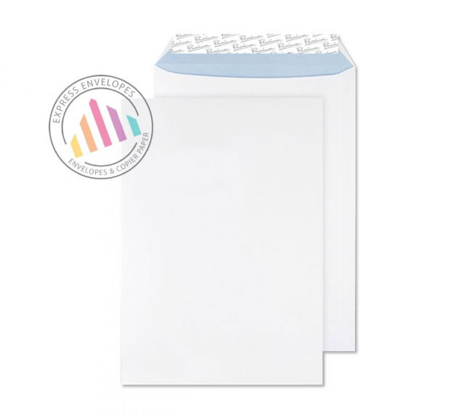 C4 - Ultra White Wove Envelopes - 120gsm - Non Window - Peel and Seal