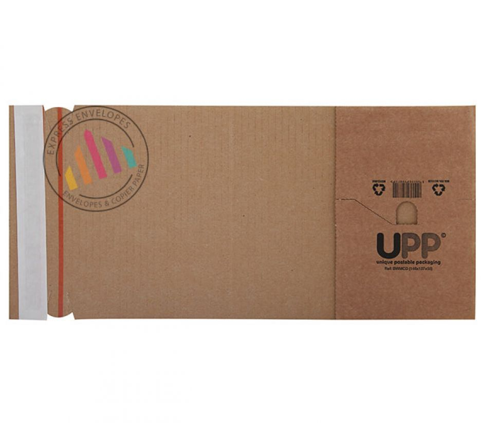 154×216×60mm - Manilla Book Wrap - Peel and Seal