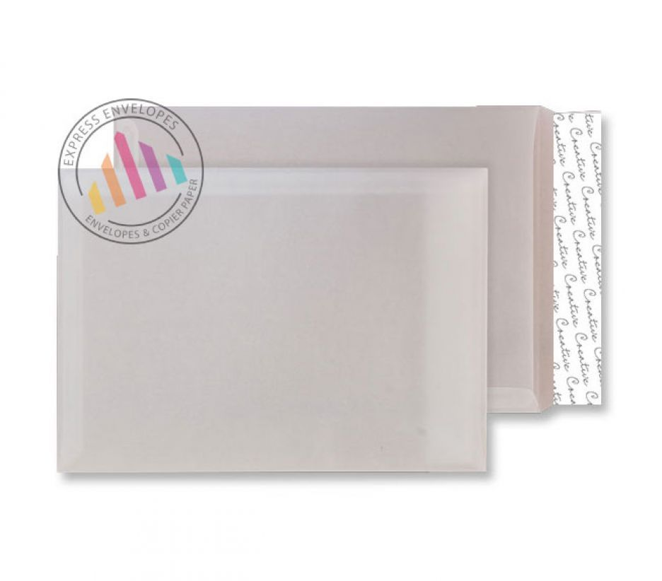 C4 - Translucent White Envelopes - 110gsm - Non window - Peel and Seal