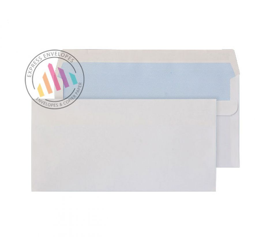 Oversized DL - White Commercial Envelopes - 90gsm - Non Window - Self Seal