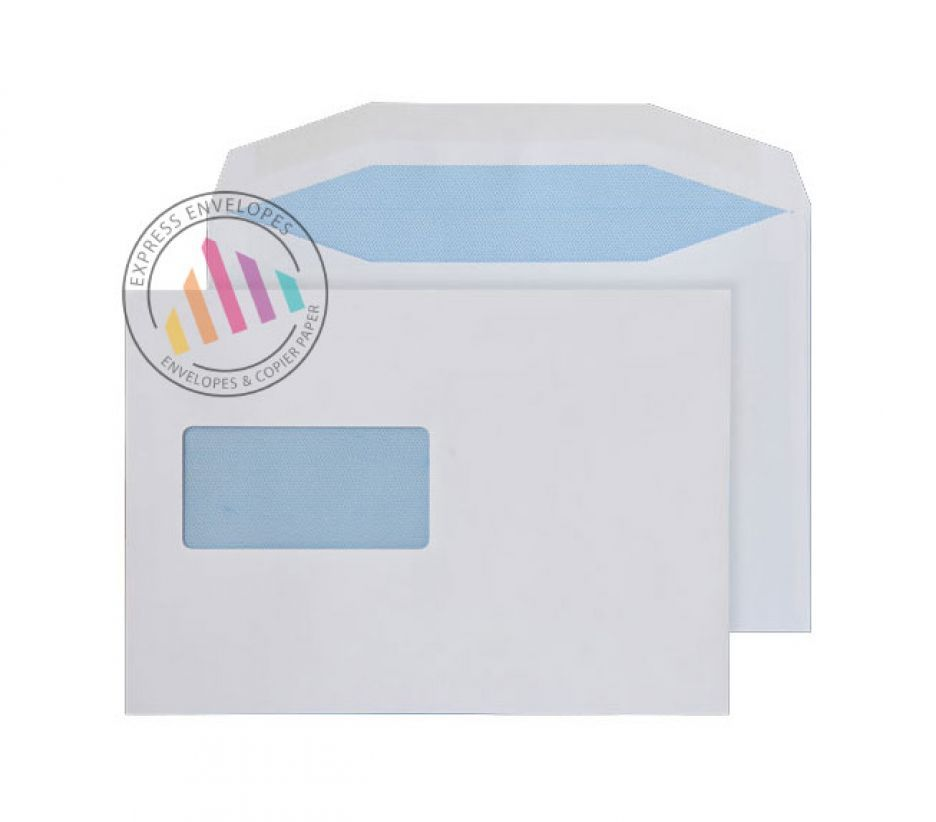 C5+ - White Mailing Envelopes - 115gsm - CBC Window - Gummed