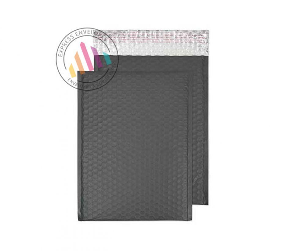 C3 - Graphite Grey Bubble Padded Envelopes - Non Window - Peel and Seal