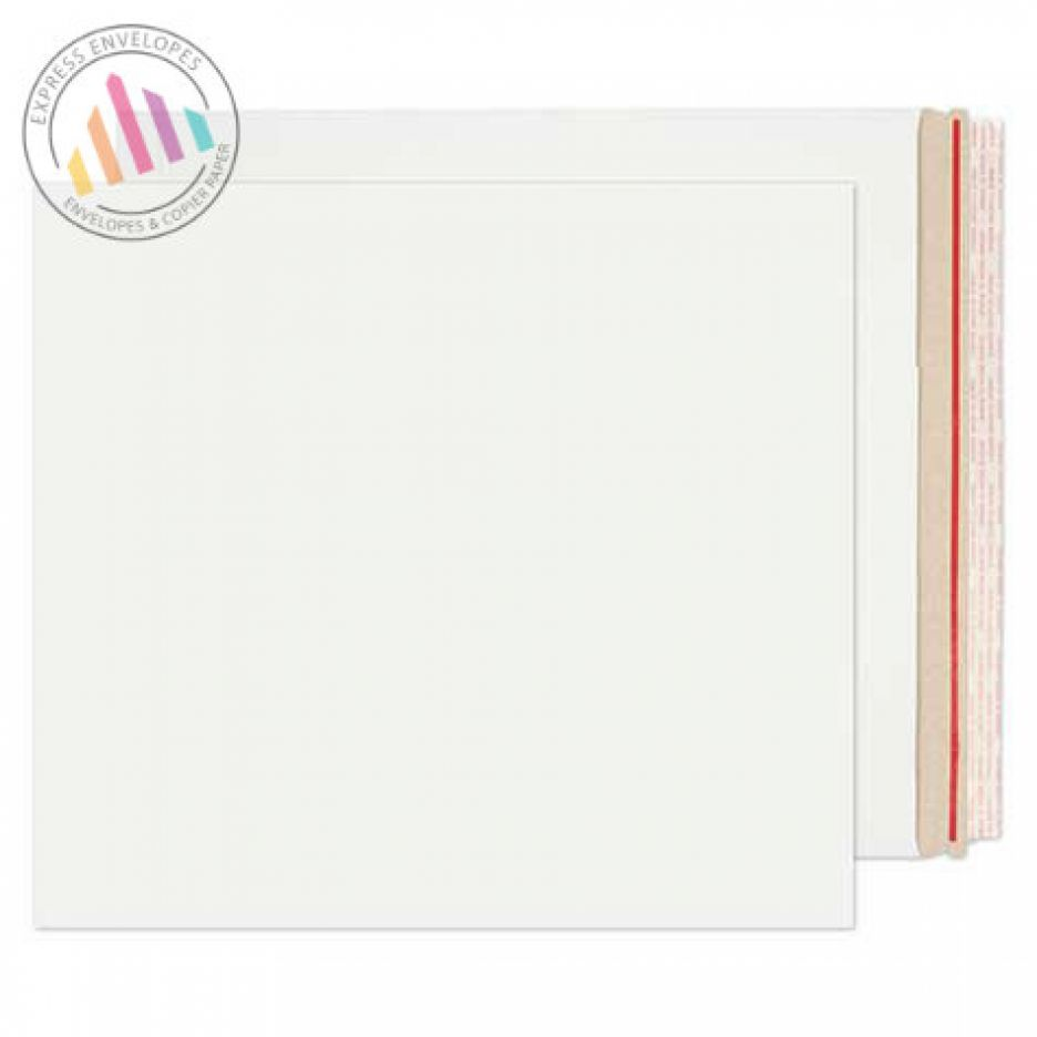 449×349mm - White All Board Envelopes - 350gsm - Rip Strip/Peel and Seal