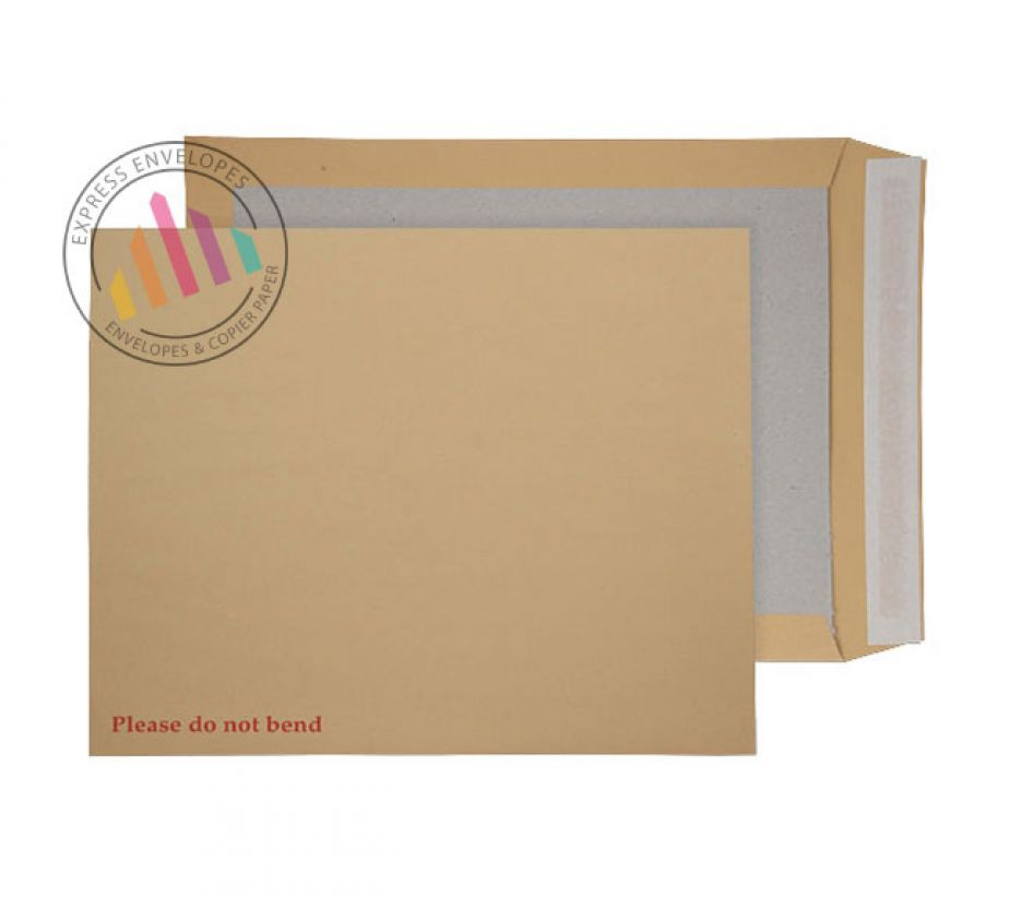 394 x 318mm - Manilla Board Back Envelopes - 120gsm - Non Window - Peel and Seal