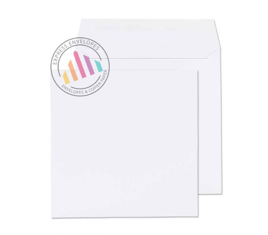 165 x 165mm - White Commercial Envelopes - 100gsm - Non Window - Gummed