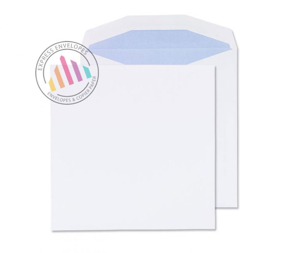 220x220mm - White Mailing Envelopes - 100gsm - Non Window - Self Seal
