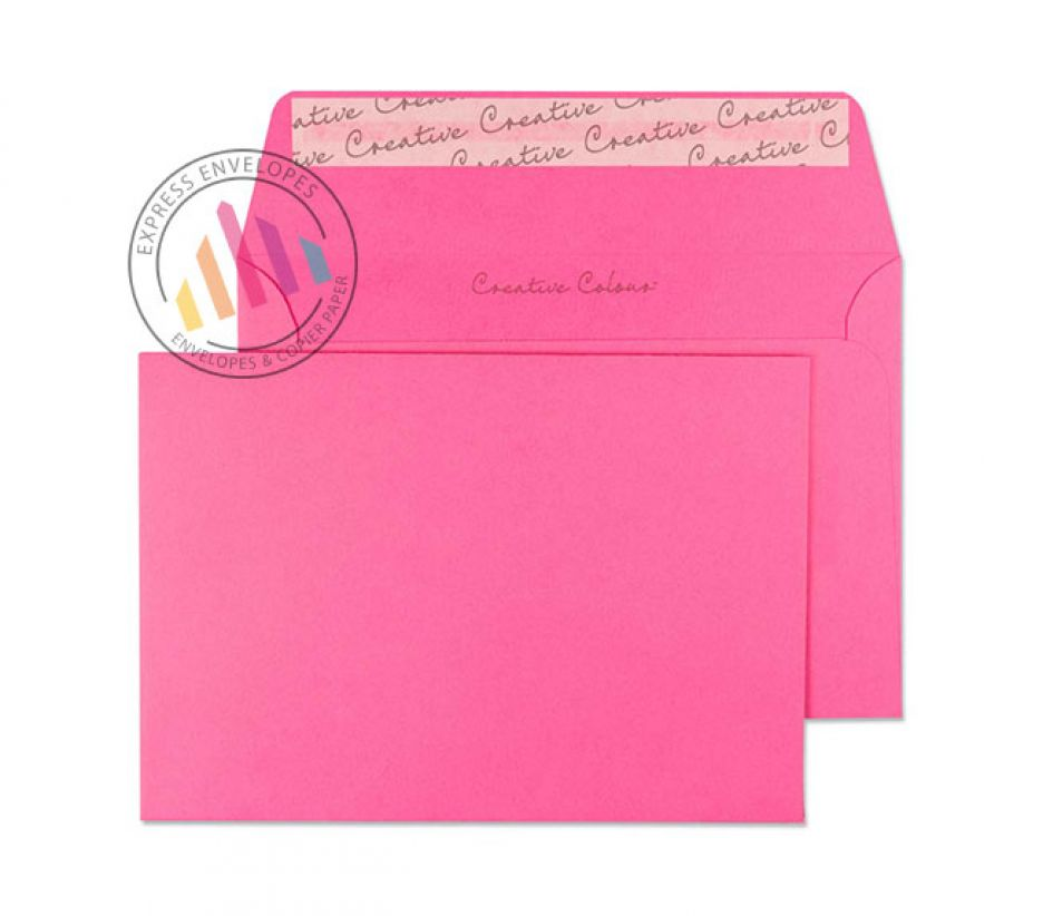 C6 - Flamingo Pink Envelopes - 120gsm - Non Window - Peel and Seal