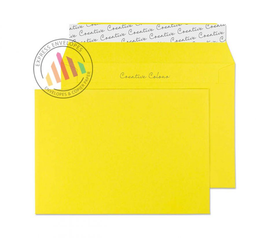 C6 - Banana Yellow Envelopes - 120gsm - Non Window - Peel and Seal