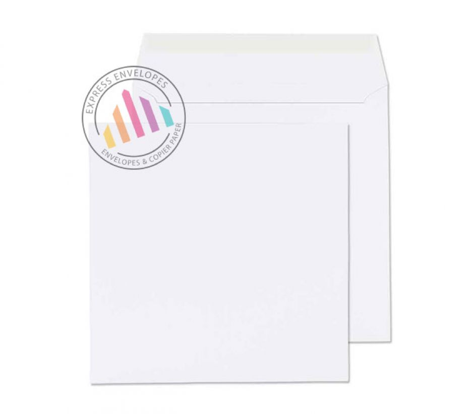 240x240mm -  White Commercial Envelopes - 100gsm - Non Window - Peel & Seal