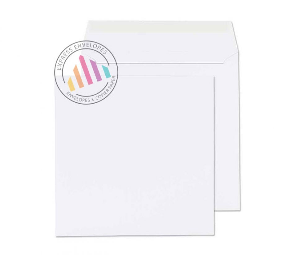 240 x 240mm - Ultra White Wove Envelopes - 120gsm - Non Window - Peel & Seal
