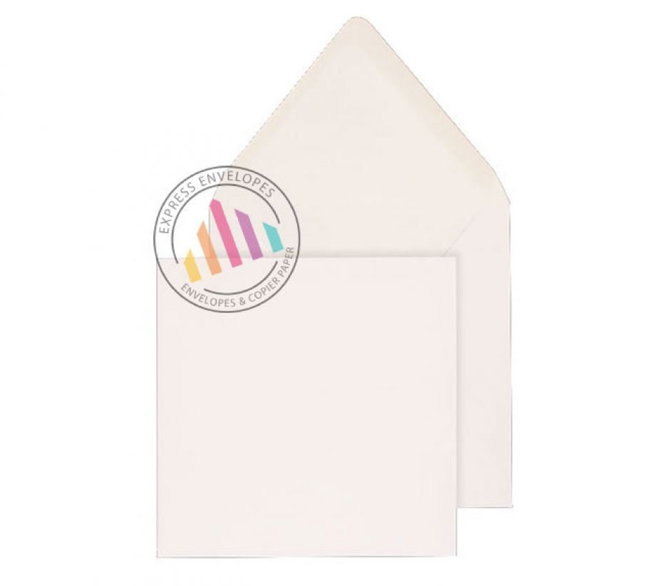 146 x 146mm - White Invitation Envelopes - 90gsm - Non Window - Gummed