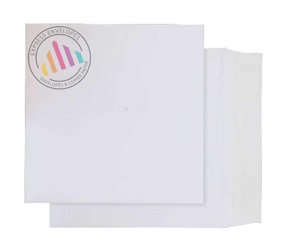 220 x 220mm - Ultra White Card Envelopes - 210gsm - Non Window - Peel & Seal