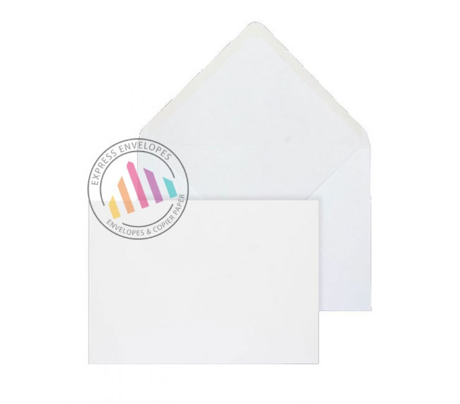 159 x 210mm - White Invitation Envelopes - 100gsm - Non Window - Gummed