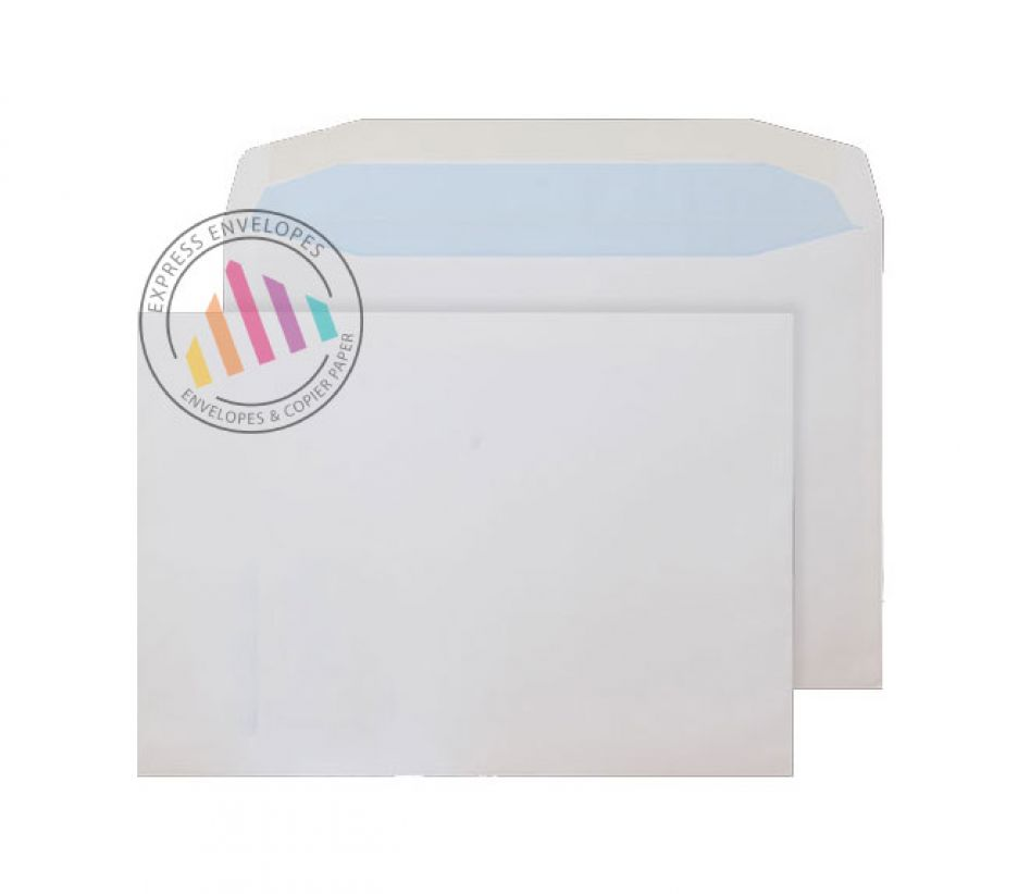 Oversize C5- White Matt Coated Mailing Envelopes - 115gsm - Non Window - Gummed