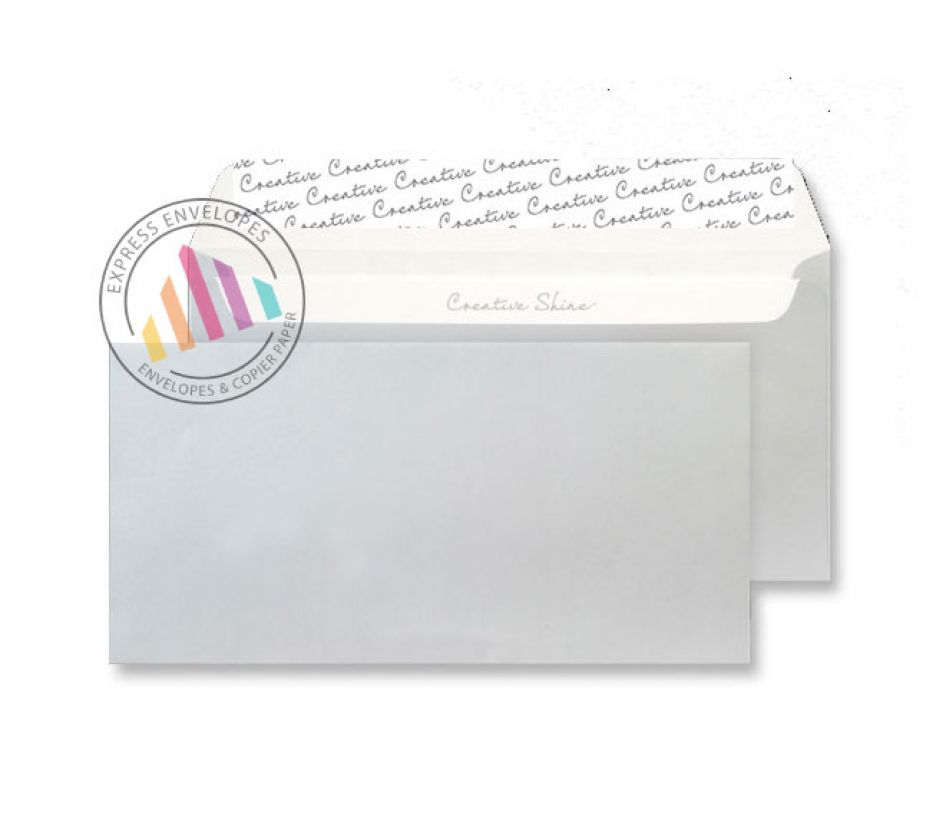 DL+ - Metallic Silver Envelopes - 130gsm - Non Window - Peel & Seal