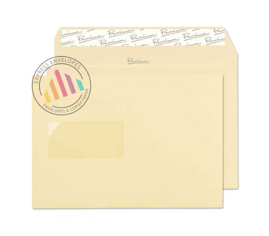 C5 - Vellum Wove Envelopes - 120gsm - Window - Peel & Seal
